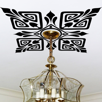 Large Scroll Ceiling Wall Decal Modern Graphic