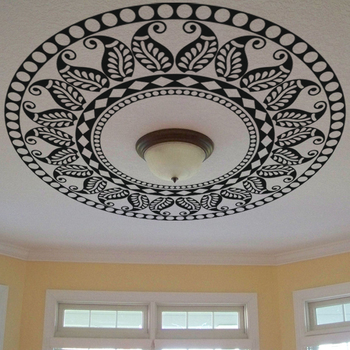 Medium Abstract Leaf Pattern Ceiling Decal Modern Graphic