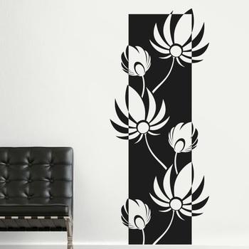 Medium Lovely Lotus Wall Decal Modern Graphic