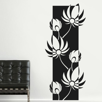Large Lovely Lotus Wall Decal Modern Graphic