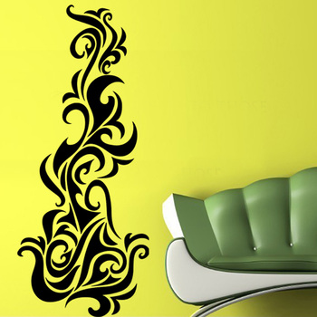 Small Abstract Flames Wall Decal Modern Graphic