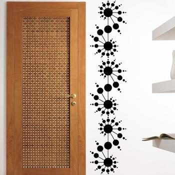 Medium Delightful Spiral Dots Wall Decal Modern Graphic