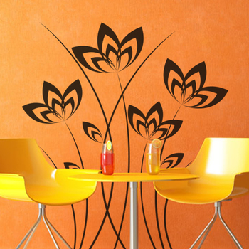 Medium Floral Elegance Wall Decal Nature