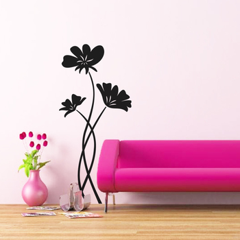 Large Pleasing Poppies Wall Decal Nature