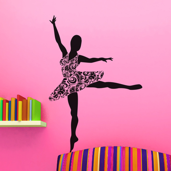 Medium Ballerina Wall Decal Modern Woman