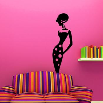 Small Stylish Lady Wall Decal Modern Woman
