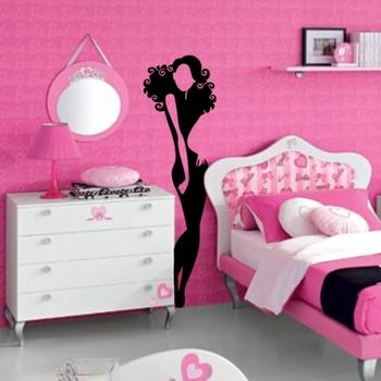 Large Petite Girl Wall Decal Modern Woman