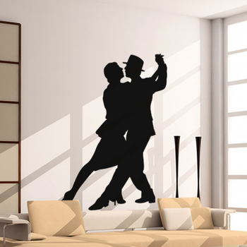 Large Dancing Couple Wall Decal Modern Woman