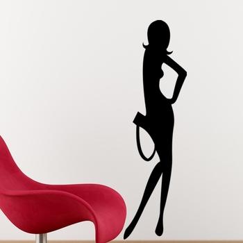 Medium Trendy Lady Wall Decal Modern Woman