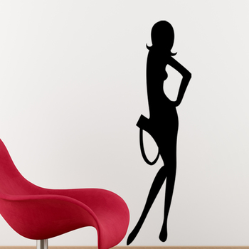 Large Trendy Lady Wall Decal Modern Woman