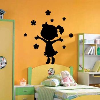Medium KC095 Little Girl Wall Decal Modern Woman
