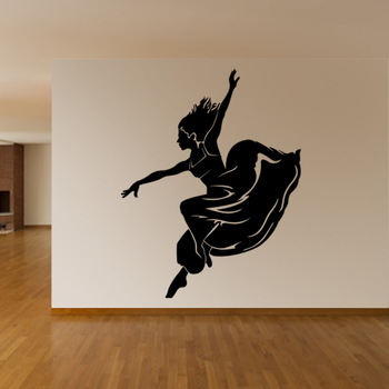 Small Dancing Lady Wall Decal Modern Woman