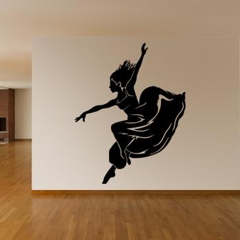 Large Dancing Lady Wall Decal Modern Woman