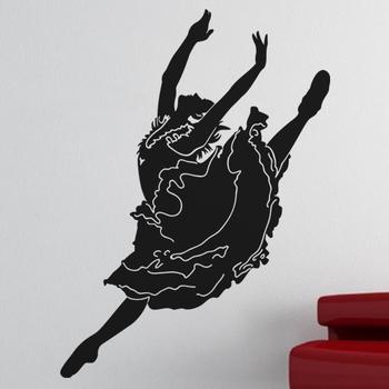 Small Ballet Girl Wall Decal Modern Woman