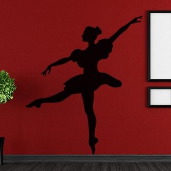 Small Delightful Dancer Wall Decal Modern Woman