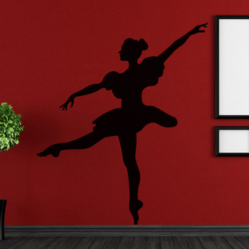 Large Delightful Dancer Wall Decal Modern Woman