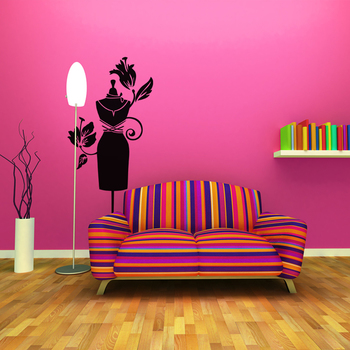 Large Feel Dressy Wall Decal Modern Woman