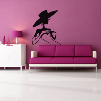 Small Mysterious Lady Wall Decal Modern Woman