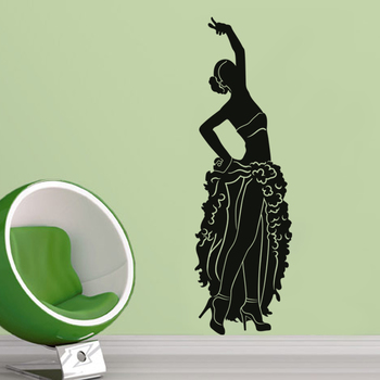 Medium Dancing Diva Wall Decal Modern Woman