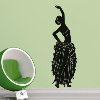Large Dancing Diva Wall Decal Modern Woman