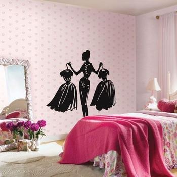 Small Dress Up Dilemma Wall Decal Modern Woman