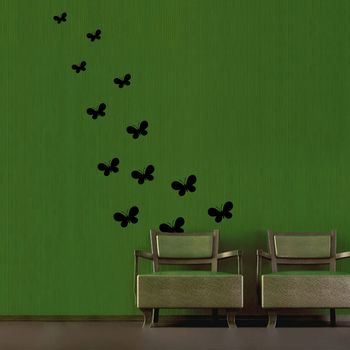 Large Group of Butterflies Wall Decal Nature