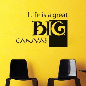 Large Life is a Big Canvas Wall Decal Quotes