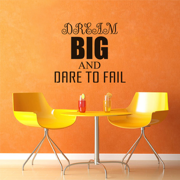 Small Dream Big Dare to Fail Wall Decal Quotes