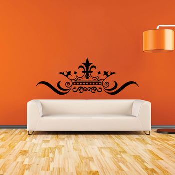 Large Creative Crown Wall Decal Modern Graphic