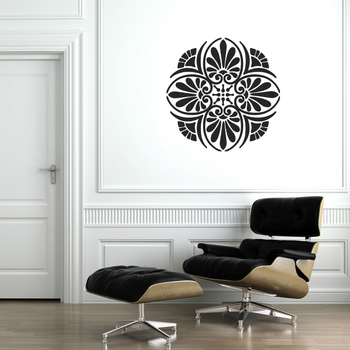 Large Floral Elegance Wall Decal Modern Graphic