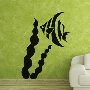 Large Angel Fish Wall Decal Birds and Animal