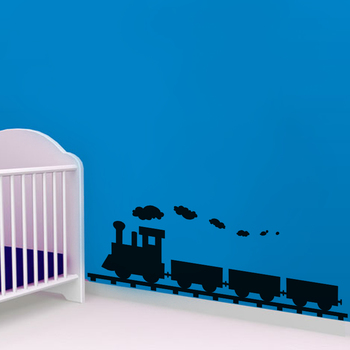 Small Train Wall Decal for Kids Room Kids Decal
