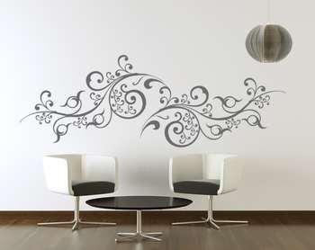 Medium Scroll Vines Wall Decal Modern Graphic