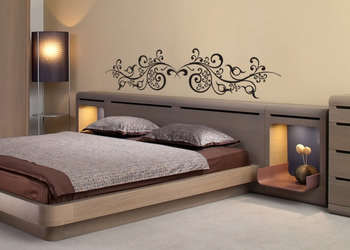 Large Curvy Vine Wall Decal Modern Graphic