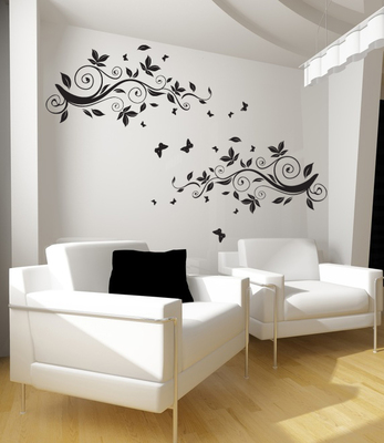 Medium Vines Of Spring Wall Decal Modern Graphic