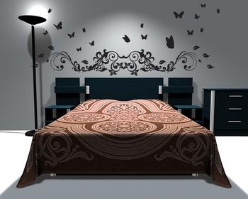 Medium Butterflies and Vine Wall Decal Modern Graphic