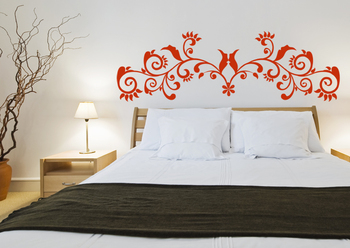 Small Glamorous Vine Wall Decal Modern Graphic