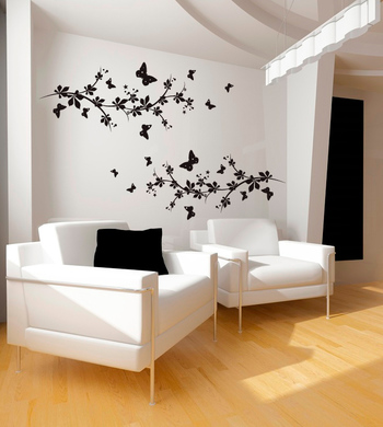 Large Butterflies And Branches Wall Decal Nature