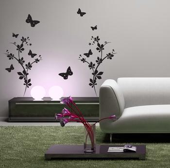 Medium Fluttering Butterflies Wall Decal Modern Graphic