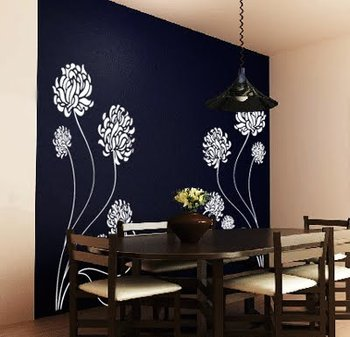 Small Ball Mum Wall Decal Nature