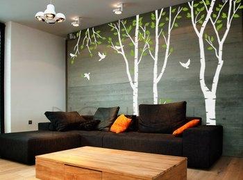 Medium Trees And Chirpy Birds Nature