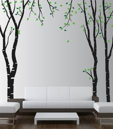 Buy Medium Tall Trees Wall Decal Nature wall-decal online