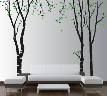 Large Tall Trees Wall Decal Nature