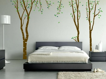 Small Beautiful Birch Wall Decal Nature