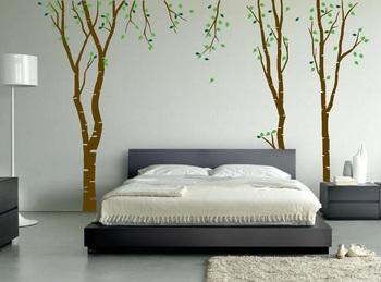 Large Beautiful Birch Wall Decal Nature