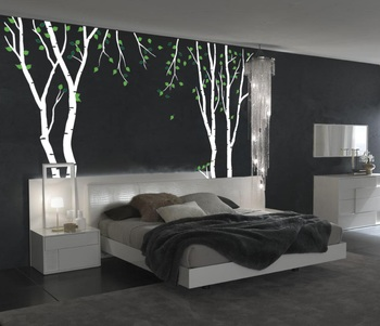 Medium Blessed Birch Wall Decal Nature
