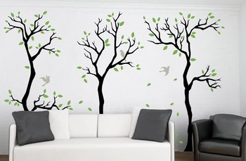 Medium Trees of Autumn Wall Decal Nature