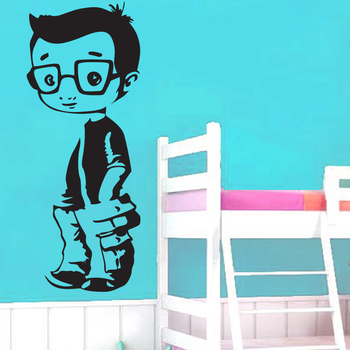 Small Little Boy Wall Decal Kids Decal