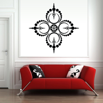 Large Dotted Circles Wall Decal Modern Graphic