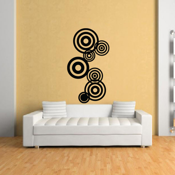 Medium Concentric Circles Wall Decal Modern Graphic